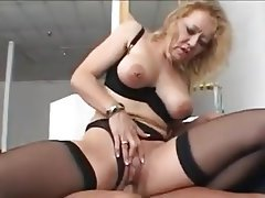 Granny, Lingerie, MILF, Old and Young, Stockings