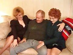 Granny, Hardcore, MILF, Stockings, Threesome