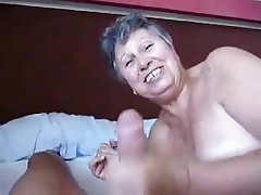 Big Boobs, Blowjob, Cumshot, Granny