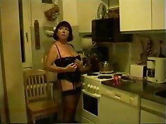 Amateur, Masturbation, Mature, Kitchen