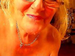 Sucking, Blonde, Mature, British, Granny