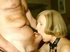 Amateur, Blowjob, Granny, Cum in mouth