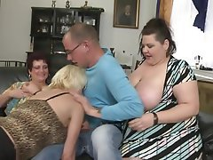 Mature, Group Sex, MILF, Old and Young, Granny