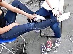 Amateur, Foot Fetish, Lesbian