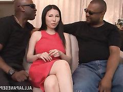 Babe, Big Tits, Ebony, Blowjob, Interracial