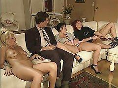 Double Penetration, Group Sex, Hairy, MILF, Swinger