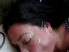 Amateur, Blowjob, Close Up, Cumshot, MILF
