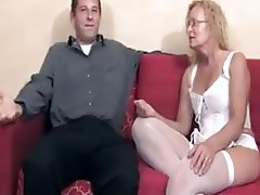 Blonde, Creampie, Mature, Old and Young, Stockings