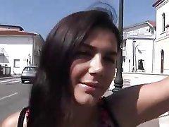 Brunette, Italian, Outdoor