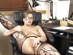 Masturbation, Mature, Orgasm, Stockings