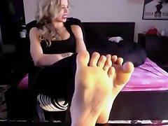 Blonde, Femdom, Foot Fetish, Italian